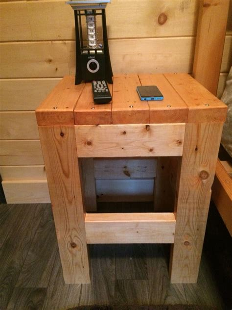 bunk bed night stand made from thisgirlslifeblog com 2 x 4 night stand stained