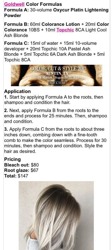 goldwell topchic color formulas the 25 best goldwell color chart ideas on