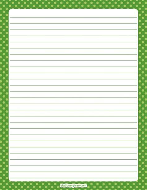printable dot stationery printable green polka dot stationery and writing paper