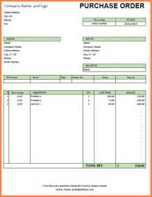 Po Excel Template by Purchase Order Template Excel Sales Report Template