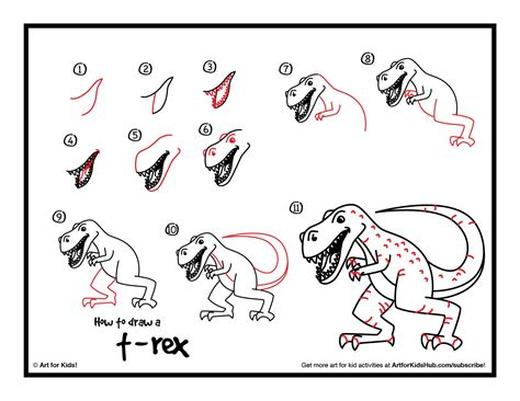 Drawing T Rex Step By Step by How To Draw A Realistic T Rex Club Members For
