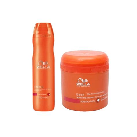 Wella Top 2 wella professionals enrich moisturizing treatment shoo 250ml and masque 150ml buy wella