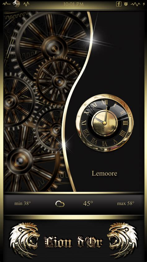 gold winterboard themes lion d or ligth black gold ios8 theme page 10 modmyforums