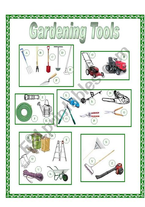 garden tools picture dictionary full pg color esl