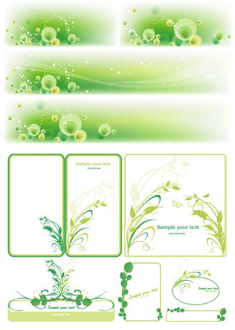 dream green text box vector vector frames borders