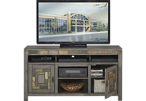 Rooms To Go Tv Stand by 499 99 Bartlett Ii Gray 60 In Console Contemporary