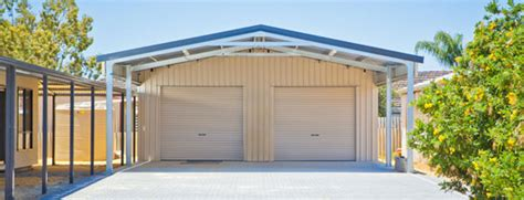 Garage Doors Designs residential sheds amp garages wa qld nt aussie sheds