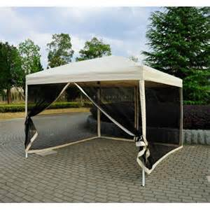 Pop Up Canopy Walmart by Outsunny 10 X 10 Easy Pop Up Canopy Tent W Mesh Side
