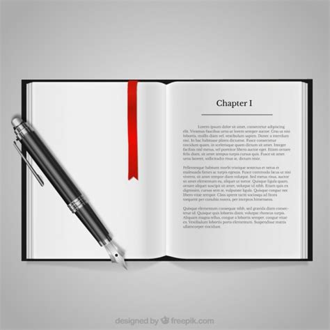 libro pen and mouse commercial book and fountain pen vector free download