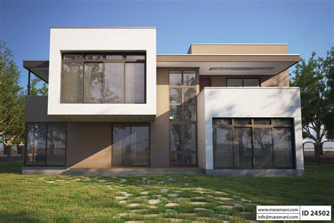 Modern Bungalow Floor Plans by 4 Bedroom Modern House Plan Id 24502 House Plans Maramani