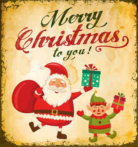 printable santa poster 画像 ちょっとレトロなクリスマス用ベクター素材 illustrator naver まとめ