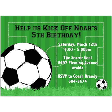 40th birthday ideas birthday invitation templates soccer