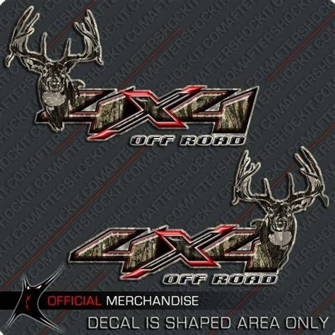 Auto Decals Red Deer by 4x4 Deer Hunting Camo Decals F150 Ram Silverado Red X By