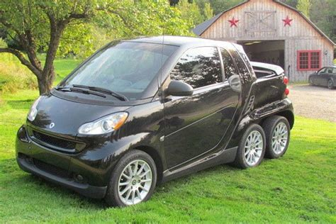 mercedes 6 wheel someone built a 6 wheeled smart fortwo truck and it s awesome