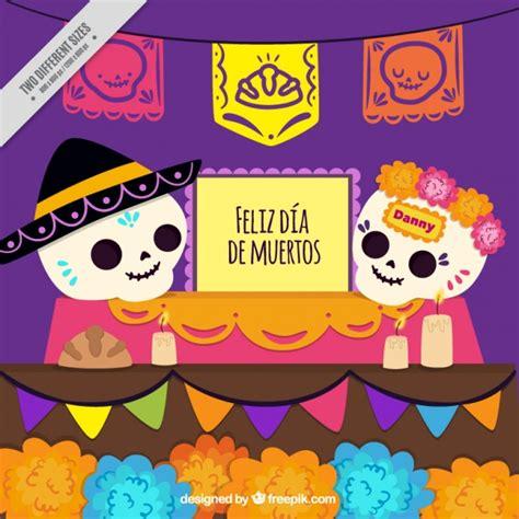 imagenes de calaveras mexicanas infantiles calaveras mexicanas con guirnaldas descargar vectores gratis