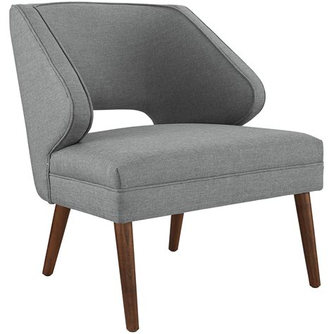 modern fabric armchair dock modern fabric upholstered armchair with dowel wood legs light gray