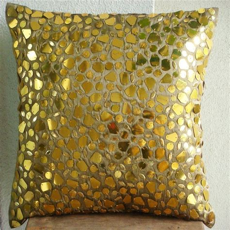 Luxurious Sparkling Gold Decorative Couch Pillows Wood Chair Gold Sofa Pillows