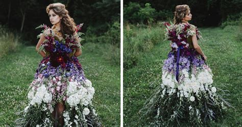 Floral Haute Couture: The Dress Made Of Flowers   Bored Panda