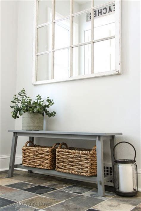 Entryway Table With Baskets 31 Awesome Mudroom And Entryway Benches Shelterness