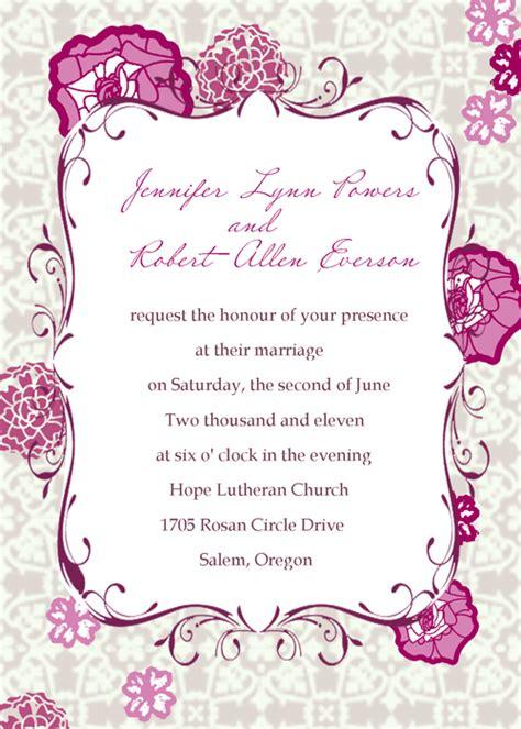 martha stewart invitation templates free wedding invitation templates martha stewart
