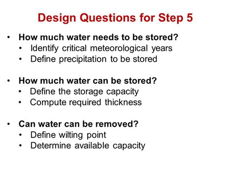 design capacity definition designing water balance covers et covers for landfills