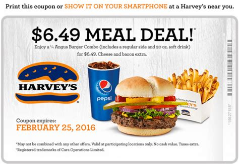 printable grocery coupons canada 2016 harvey s canada coupons 6 49 meal deal hot canada
