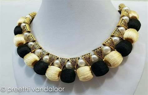 Handmade Thread Jewellery - 1545 best images about silk thread jewellery on