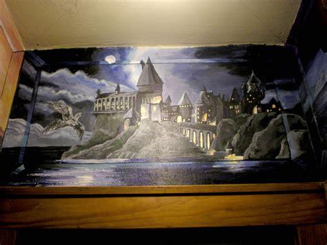 hogwarts wall mural wip hogwarts castle mural wall by shadowind on deviantart