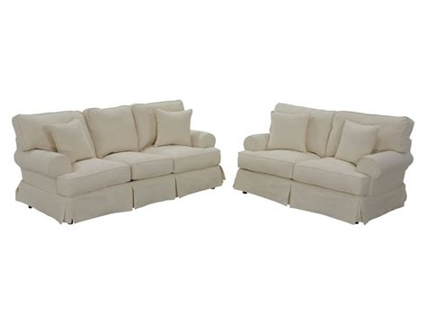 Jerome S Couches by Classic Slipcover Sofa Set Jerome S Furniture Living