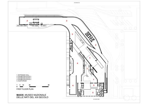 zaha hadid floor plans maxxi plan zaha hadid architecture pinterest