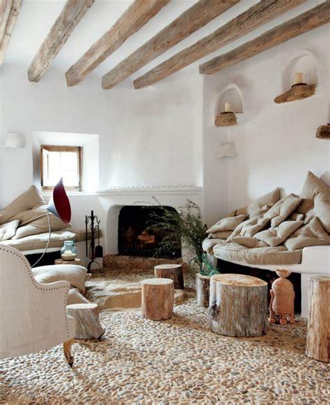 Wood Beams In Living Room by Living Room With Wood Beams Tree House Design