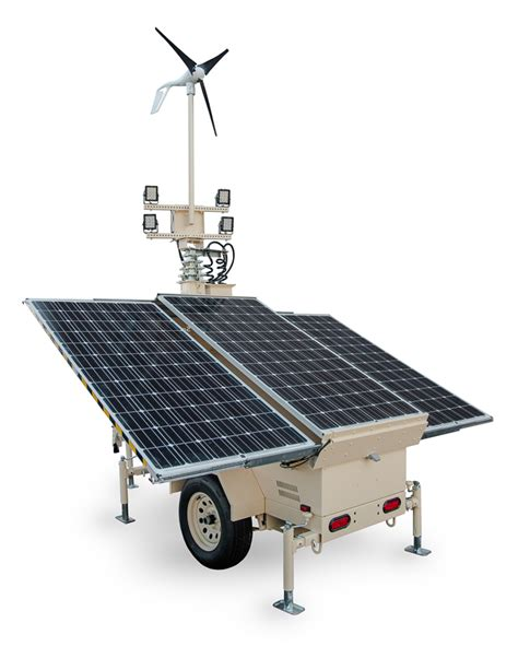 Solar Light Towers Solight Towers Portable Solar Light And Security Towers