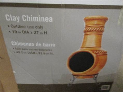 Kd Clay Chiminea 37 In Clay Kd Chiminea With Iron S Home Store