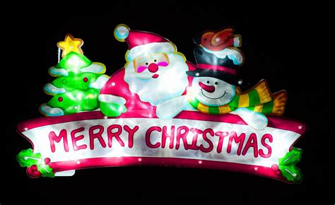 indoor lighted christmas signs battery operated indoor pvc merry christmas sign ice white