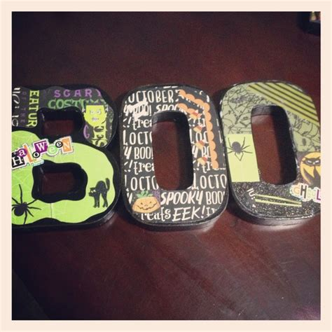 How To Make Decoupage Letters - diy decoupage boo quot letters quot