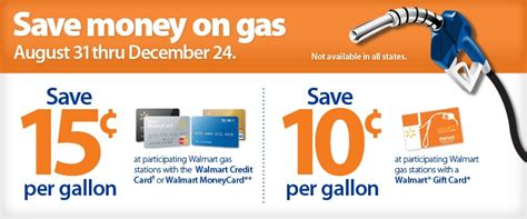 Walmart Gift Card At Gas Station - walmart save 0 10 or 0 15 per gallon of gas