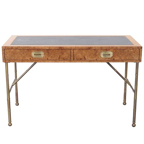 vintage burlwood desk by mastercraft at 1stdibs