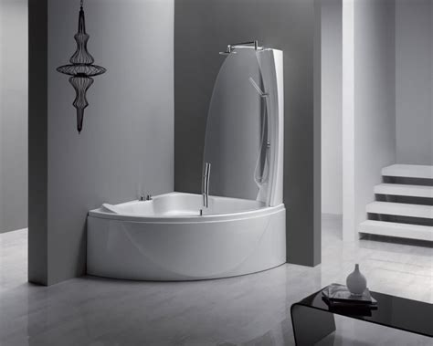 small corner bathtub with shower perfect small bathtubs with shower inspirations homesfeed