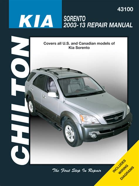 how to download repair manuals 2003 kia sorento lane departure warning kia sorento chilton repair manual 2003 2013 hay43100