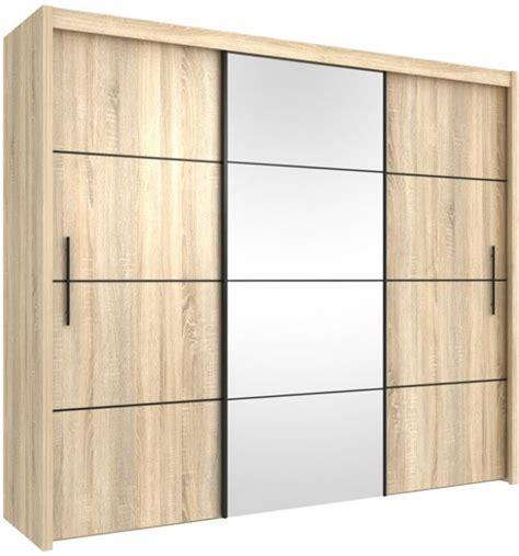 Large Wardrobe Set   3 Door Sliding Wardrobe With Sliding