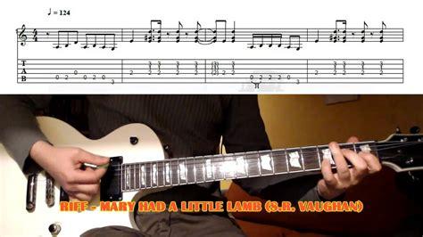 mary    lamb riff stevie ray vaughan guitar lesson  tab youtube