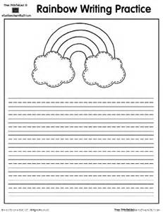 rainbow printable writing practice page a to z teacher
