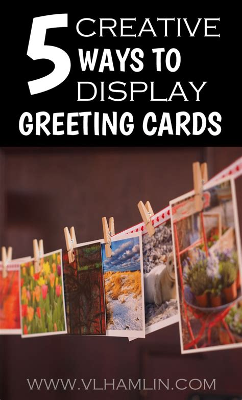 5 creative ways to display greeting cards food life design