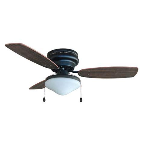 oil rubbed bronze 42 quot hugger ceiling fan with light kit