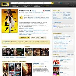 kill bill vol 1 2003 pearltrees favorite movies pearltrees videos pearltrees