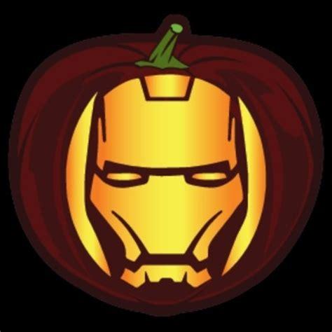 Printable Iron Man Pumpkin Stencil | pop culture pumpkin printables halloween costumes blog