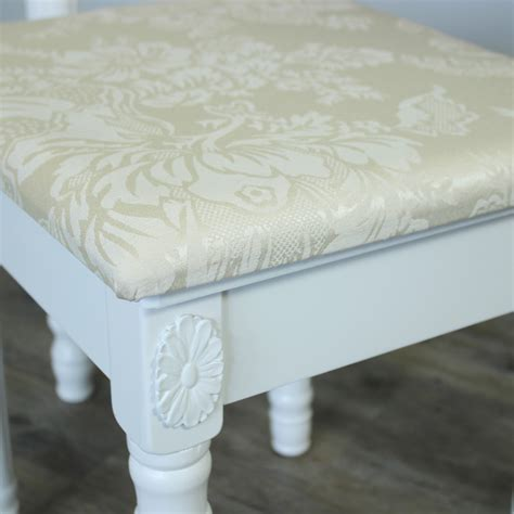 white bedroom stools uk white padded dressing table stool shabby french chic girls