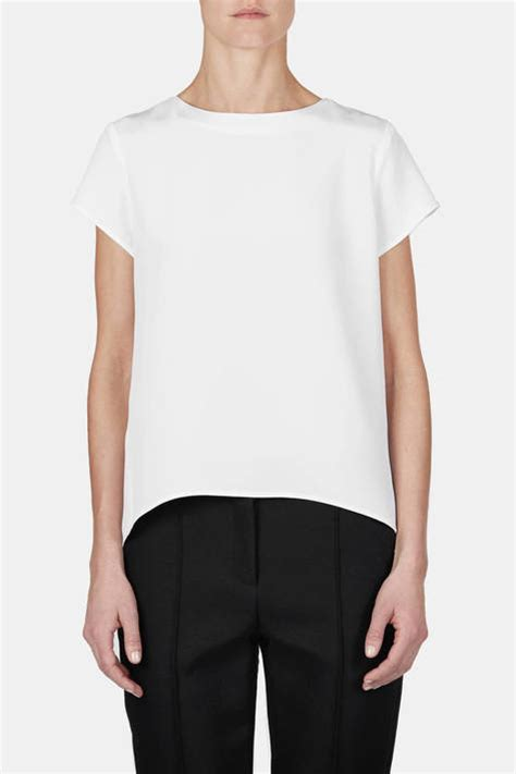 White Shirt 01 by Protagonist T Shirt 01 Silk Boy T White The Line