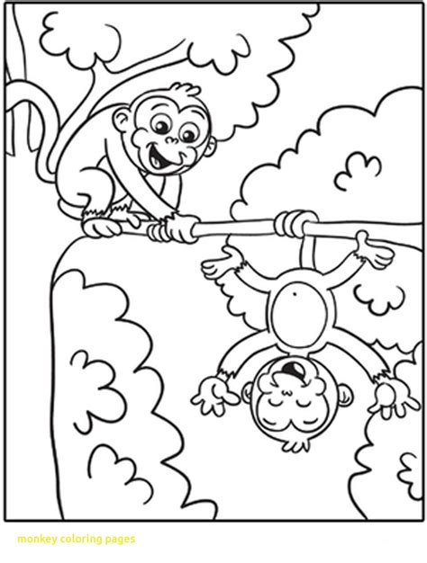 monkey coloring pages for preschool printable monkey coloring page free preschool for snazzy