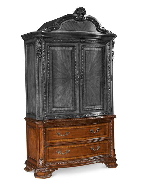 bedroom sets with armoire art furniture bedroom armoire set 143160 2606 hickory